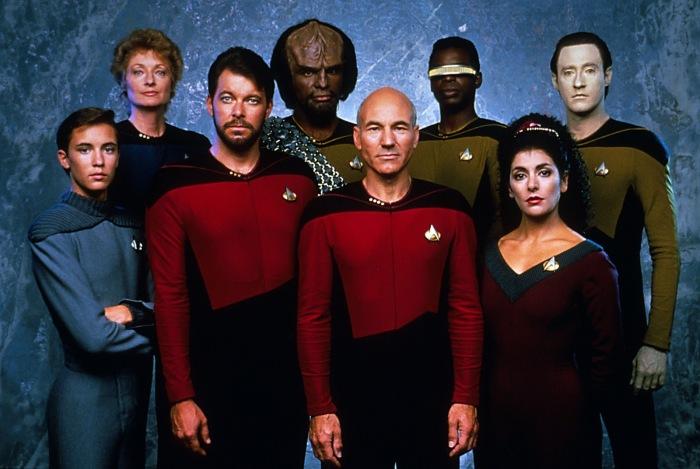 La tripulación de la Enterprise a partir de la 2ª temporada.