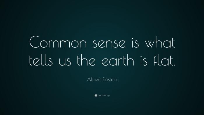 Del sentido común